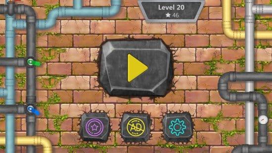 Водопроводчик - игра головоломка (соедини трубы)
