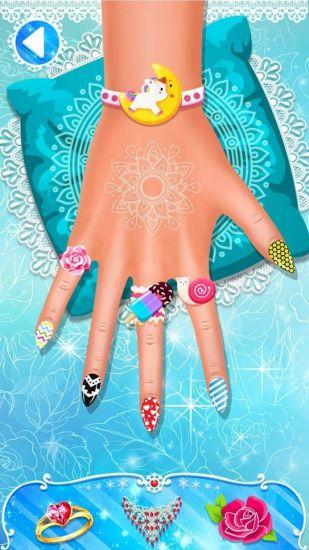 Маникюр салон - акриловые ногти